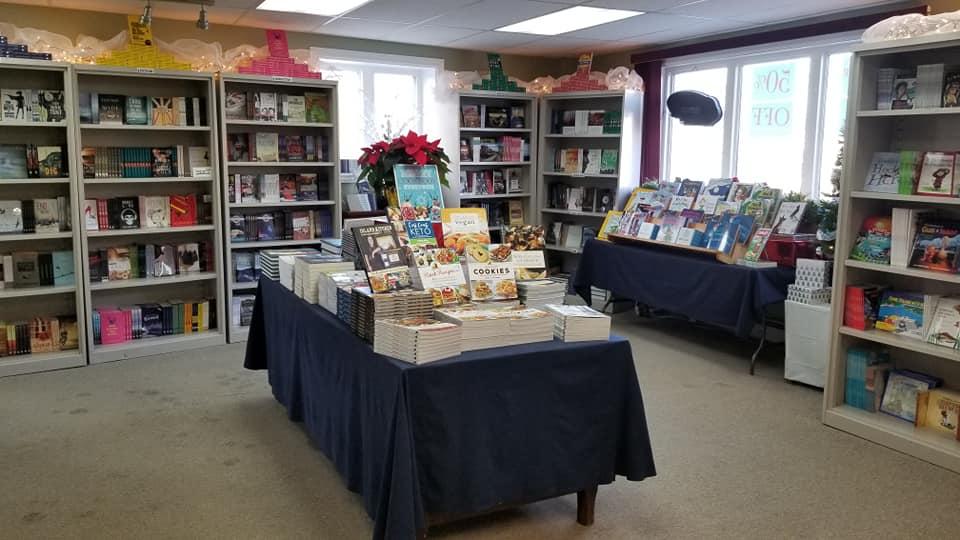 Breakwater Books shop at Christmas