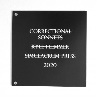 Correctional Sonnets cover