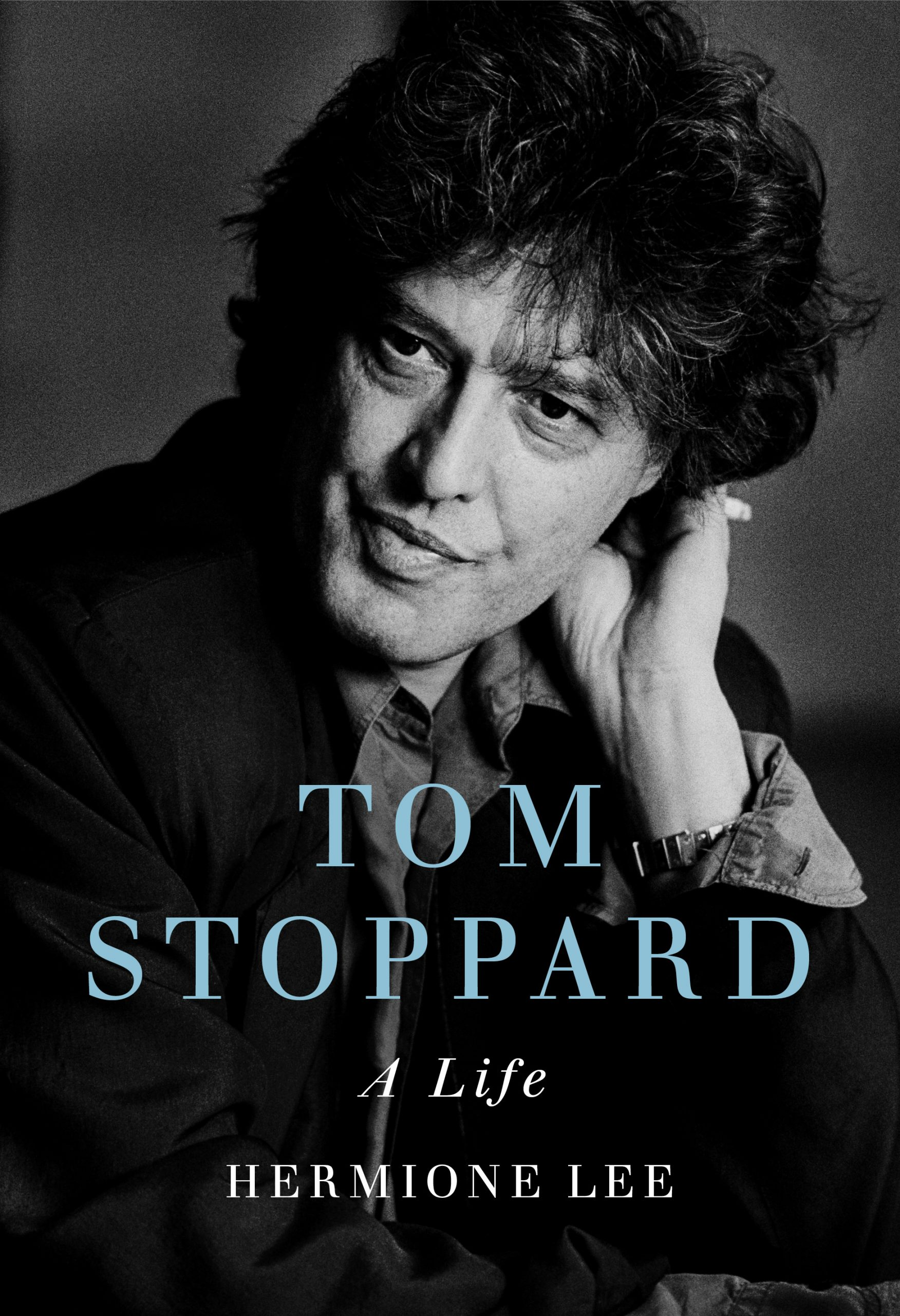 Tom Stoppard: A Life book cover with Tom Stoppard picture. Written by Hermione Lee